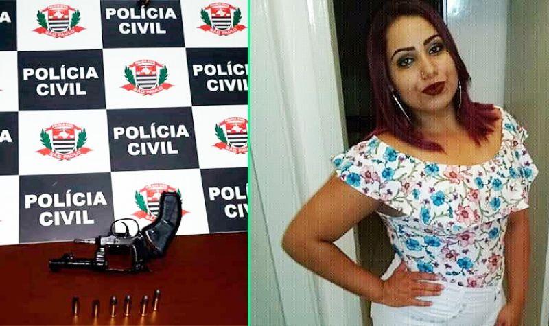 Thaylla foi morta com um tiro no peito pelo ex-namorado. Na foto, as arma usada no crime