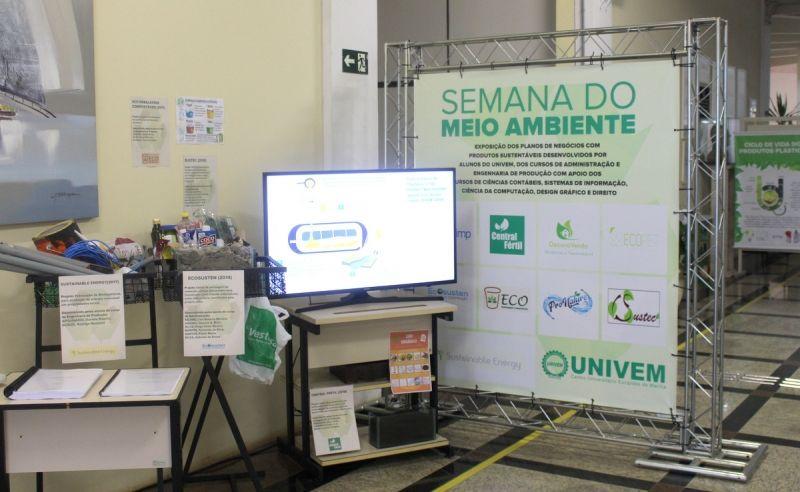 """""""Espaço Gente que faz do UNIVEM"""" realiza exposição sobre Meio Ambiente"""