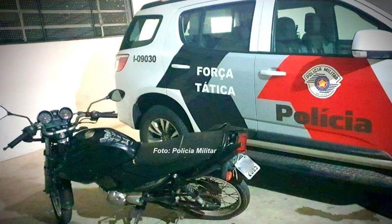 A moto havia sido furtada há cerca de quatro meses.