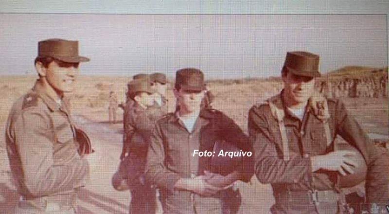 Domingos Montagner durante estágio no Exército em Lins.