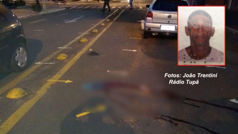 O homem foi atropelado duas vezes e não resistiu aos ferimentos.
