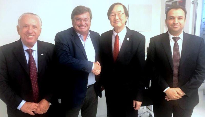 Prefeito Daniel com representantes da CCIBC e da Uvesp