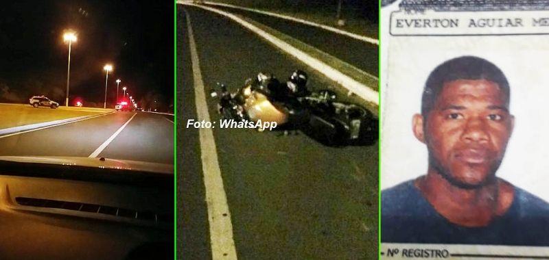 Eventon morreu após perder o controle da moto que pilotava pela av. Sanches Cibantos.