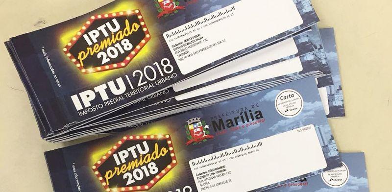 Carnês do IPTU começarão a ser entregues na próxima semana