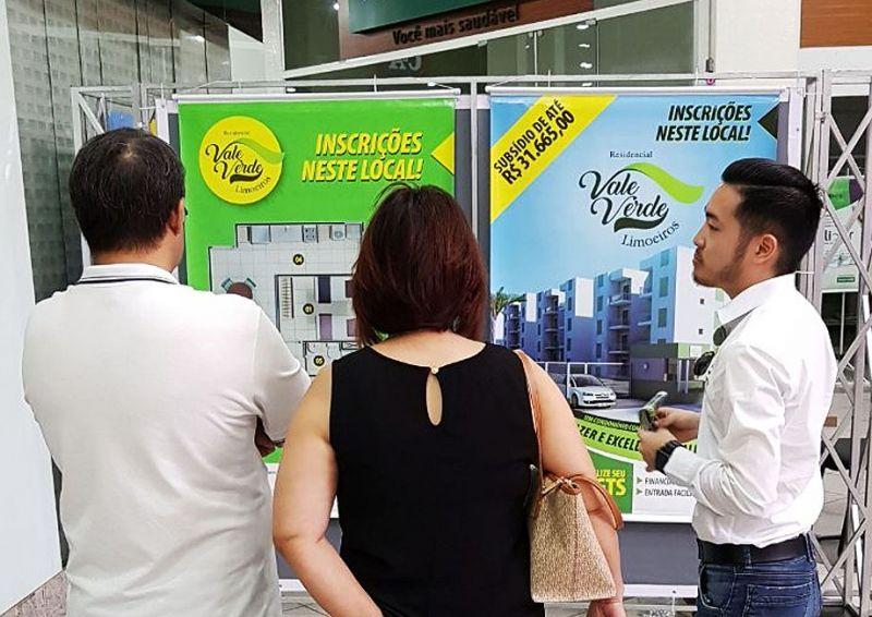 No Estande montado no Marília Shopping, clientes terão vantagens na compra.