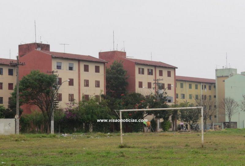 Conjuntos de apartamentos da CDHU na zona sul de Marília.