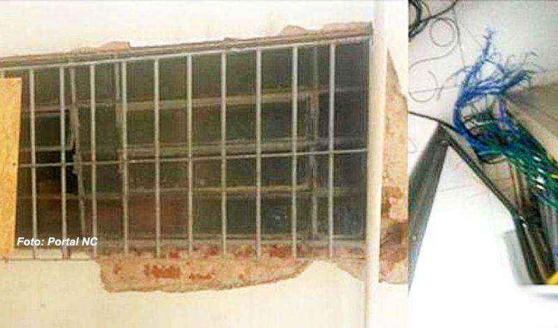 Os criminosos invadiram a agência por uma das janelas e cortaram a fiação do alarme.
