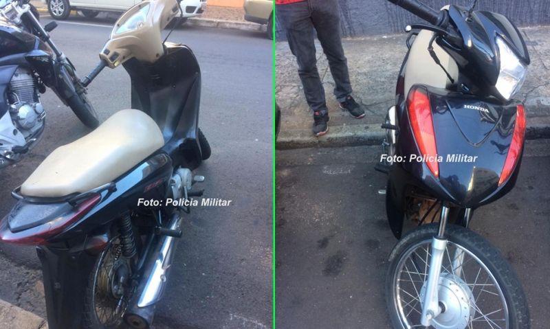 As duas motocicletas foram recuperadas pela PM.