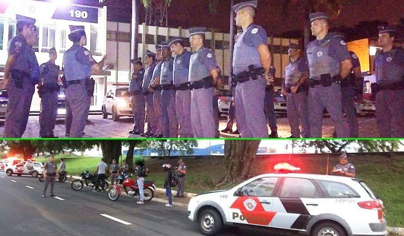 Na região, foram mais de 800 policiais militares empenhados na operação.