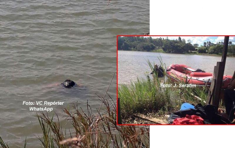 O corpo estava boiando às margens da represa em Guaimbê.