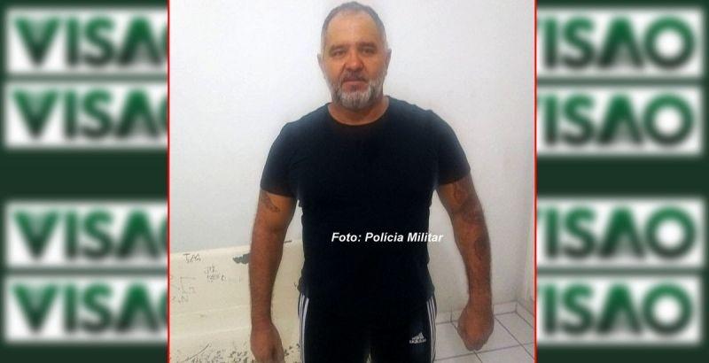 Coxinha no dia em que foi preso pela Polícia Militar.