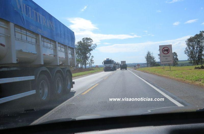 Veículos pesados terá trânsito restrito na BR-153