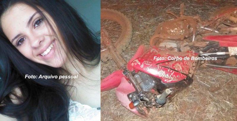 Letícia não resistiu aos graves ferimentos. Ela era garupa da motocicleta.