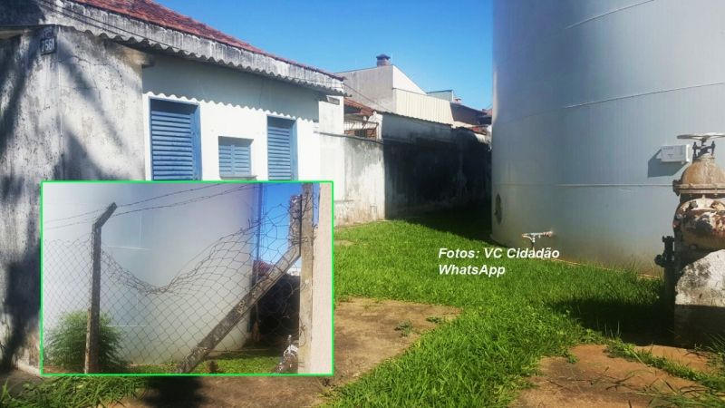Moradores denunciam abandono do sistema de reservatórios na av. República.