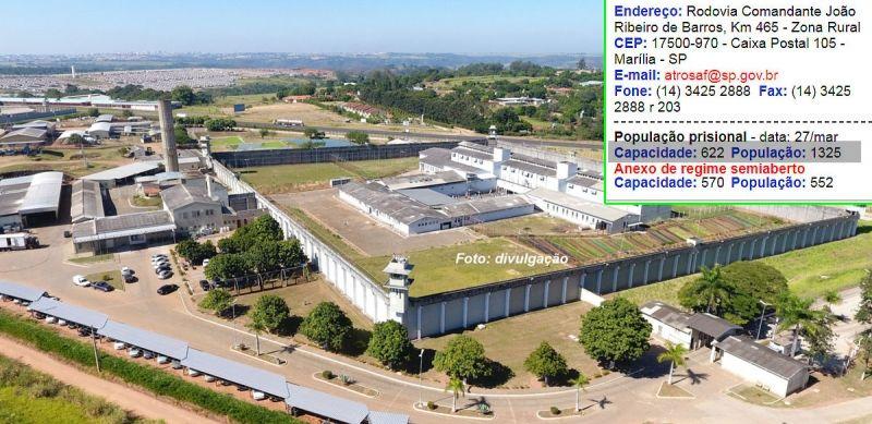 Penitenciária de Marília completa 30 anos e enfrenta superlotação