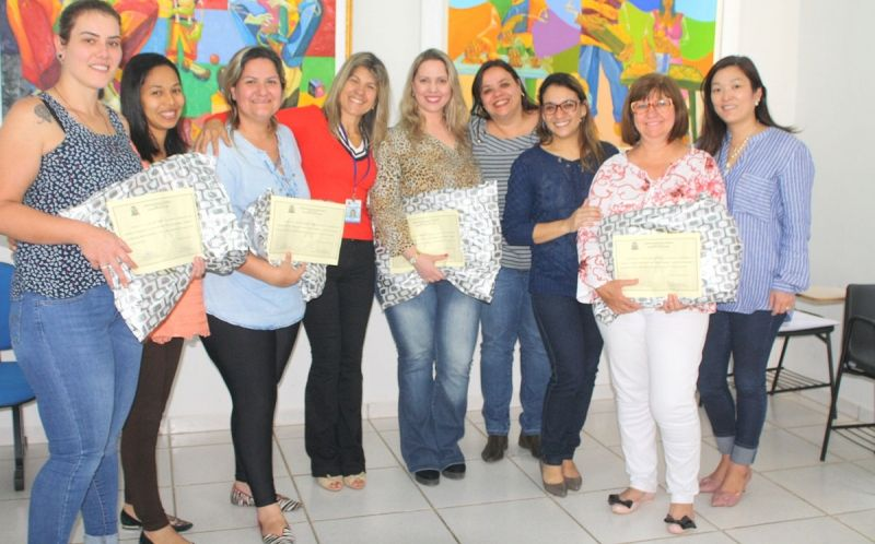 As equipes da rede básica de Saúde de Marília que foram premiadas.