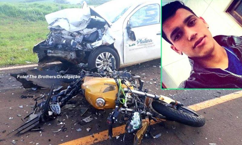 Rodrigo morreu ao bater de frente moto que pilotava contra viatura da Prefeitura de Platina.