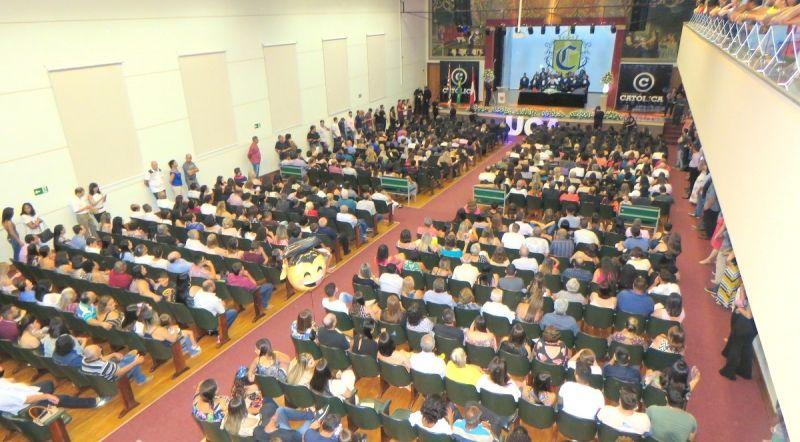Solenidade lotou o teatro do Sagrado Coração e foi muito emocionante.