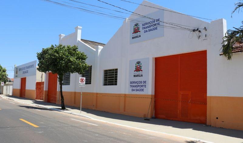 Fachada do Novo Serviço de Transportes da Saúde, localizado na avenida Nelson Spielmann