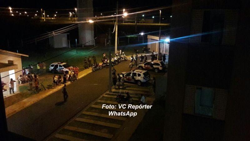 O atropelamento foi na via de acesso aos apartamentos do residencial São Bento.