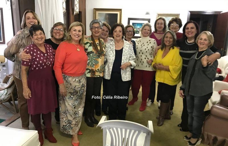 As participantes do Recanto do Terço na última segunda-feira.