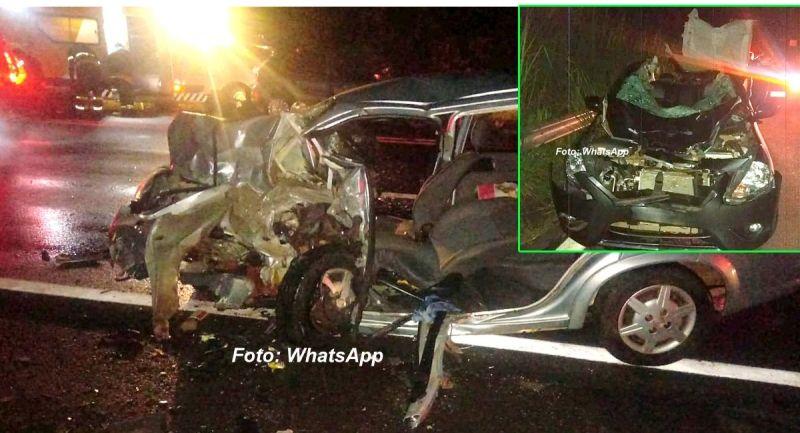 Acidentes em Echaporã e Garça (detalhe): duas mortes e quatro feridos.