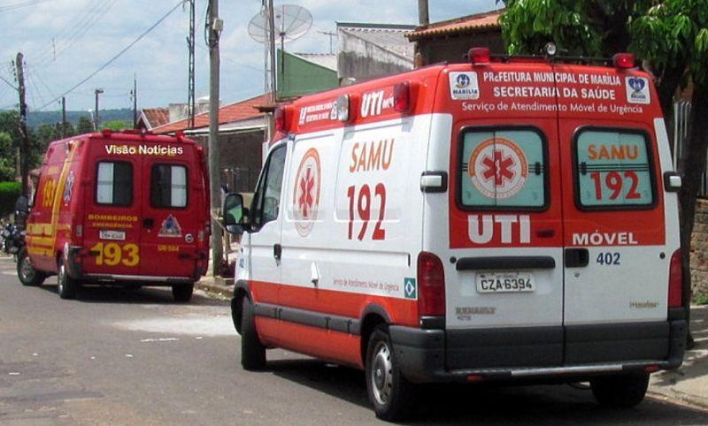 Foram mobilizadas equipes do Resgate e UTI móvel para atender o motociclista