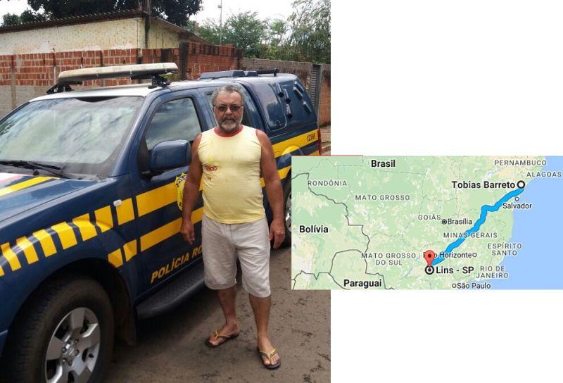 Miguel buscou ajuda à PRF para reencontrar os irmãos, após 40 anos.
