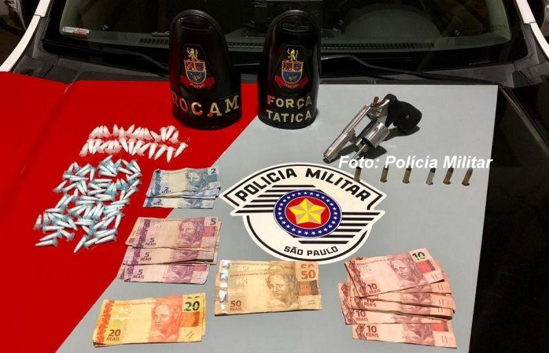 Drogas e a arma usada para praticar o segundo homicídio deste ano em Marília