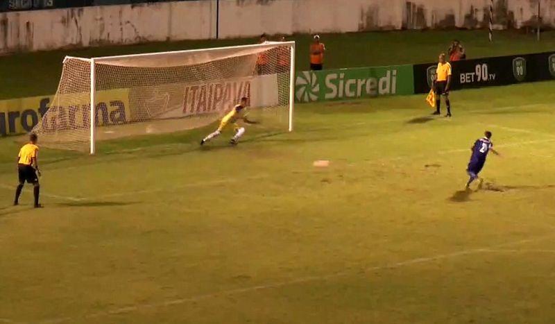 A equipe da Desportiva conseguiu vantagem na cobrança dos pênaltis.