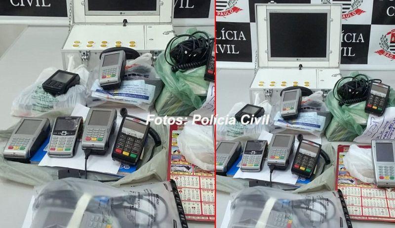 Material que foi apreendido hoje pela Polícia Civil
