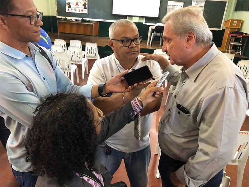 Cotait durante entrevista coletiva na visita ao município de Garça