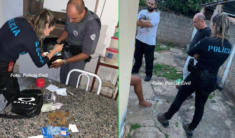 Policiais no momento em que realizavam a operação em Álvaro de Carvalho.