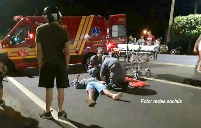 O rapaz sofreu vários ferimentos e permanece internado na UTI