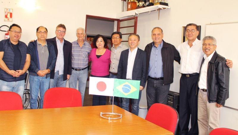 Reunião ocorrida nesta semana para detalhes da visita no kaikan com a presença de Ihoshi