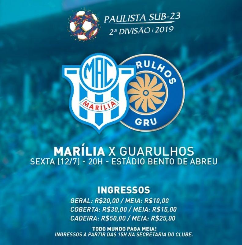 O MAC enfrenta o Guarulhos nesta sexta-feira, às 20 horas, no estádio Abreuzão, em Marília