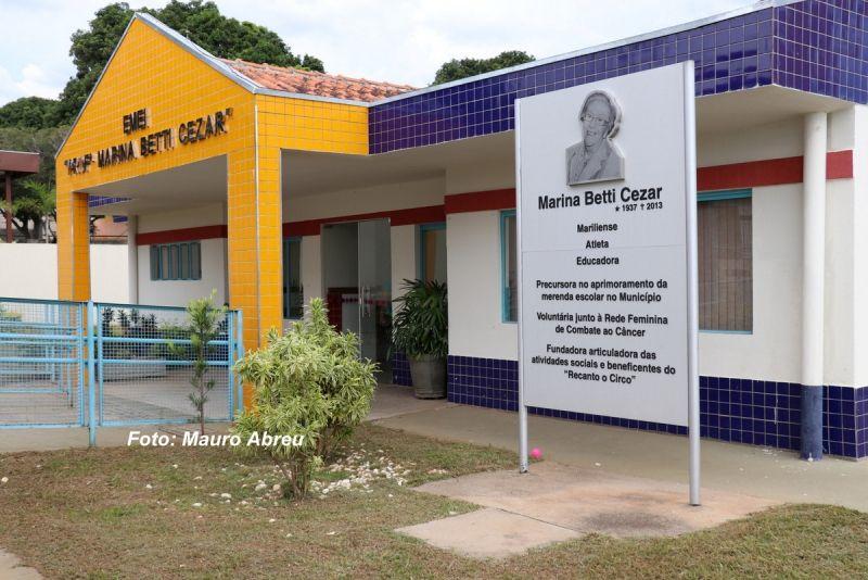 Escolas municipais estão passando por reformas.