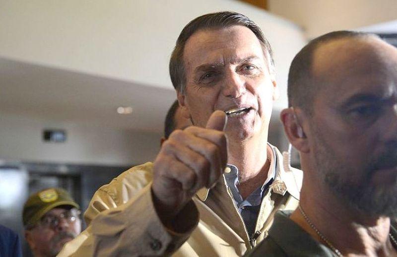 O candidato do PSL à Presidência da República, Jair Bolsonaro, visita a sede da Superintendência da Polícia Federal, no centro do Rio