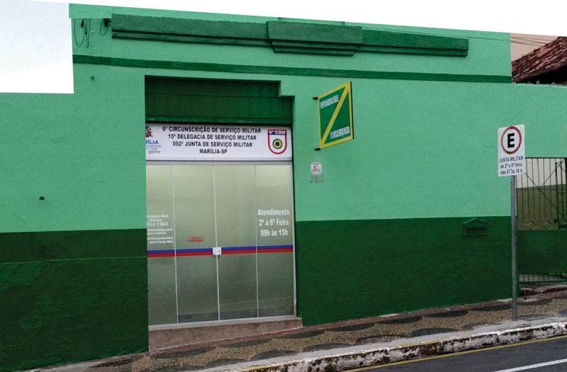 Junta de Serviço Militar está localizada no centro da cidade.