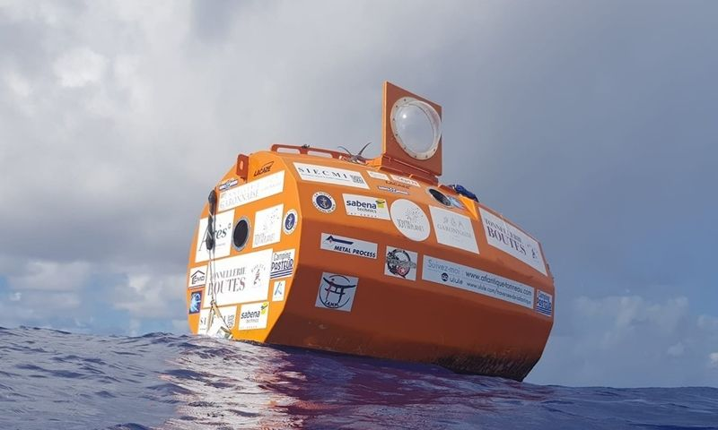 À deriva: tonel equipado levou francês das Ilhas Canárias ao Caribe