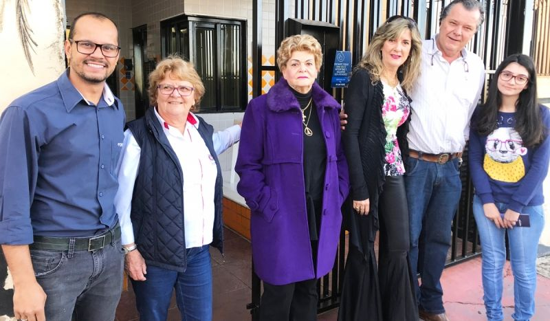 Moreno Medeiros, Thereza Brandão, Nilza Maldonado, Jaqueline Maldonado Foresto, João Adelmo Foresto e Laís Bernejo.