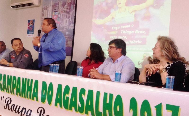 Ptresidente da ACIM, Libânio Victor Nunes de Oliveira, discursa durantye lançamento da campanha.