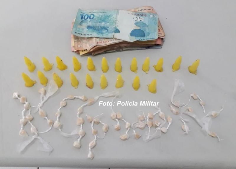 Menores são apreendidos com drogas na vila Barros