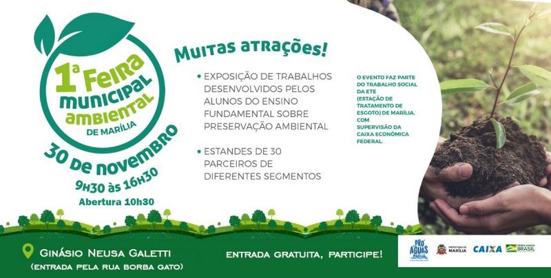 Feira Municipal Ambiental será realizada neste sábado no ginásio da avenida Santo Antônio