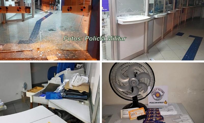 Rapaz é preso pela Polícia Militar após arrombar casa lotérica no centro de Marília