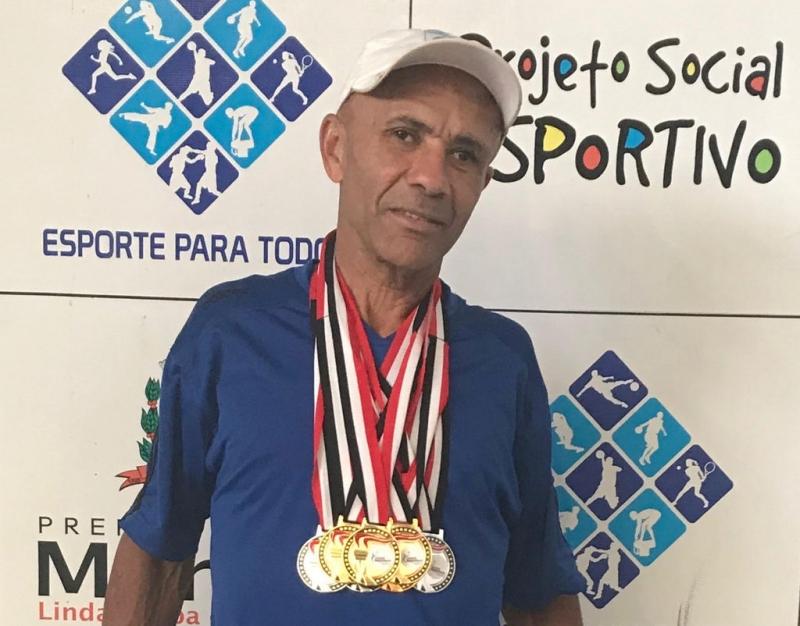 Aurélio Guedes, servidor municipal conquista sete medalhas nos Jogos Regionais de Assis