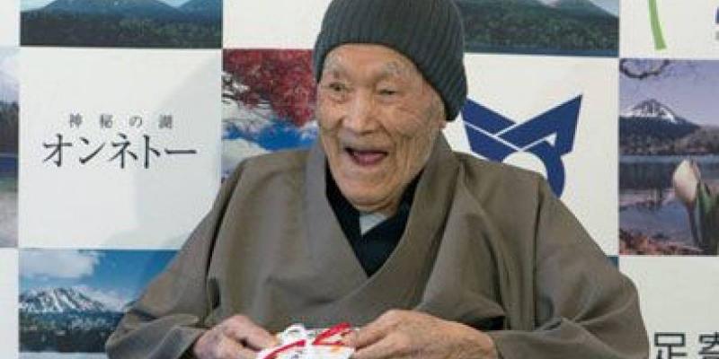 Guinness elege japonês como o homem mais velho do mundo. Quantos anos ele tem?