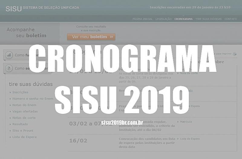 Primeira edição de 2019 do Sisu ofertará mais de 235 mil vagas