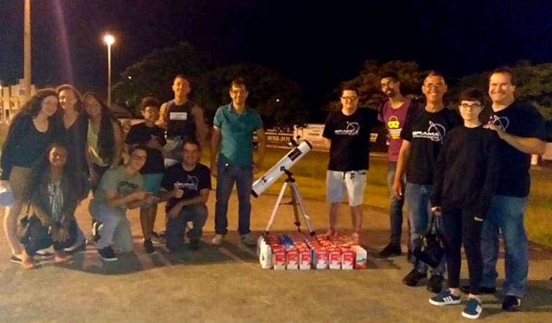 Grupo se reúne hoje em Marília para acompanhar eclipse, com ação social