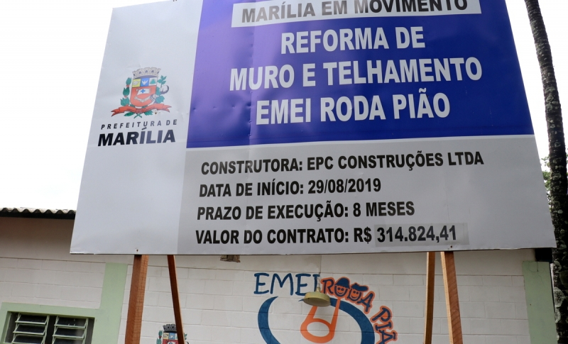 Reforma da Emei Roda Pião na zona norte estará finalizada nos próximos dias